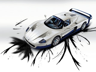 white sports cars