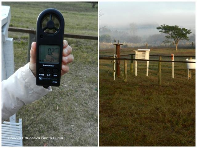 Anemómetro para medir la intensidad del viento - Chacra Educativa Santa Lucía