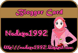 My Blogger Card