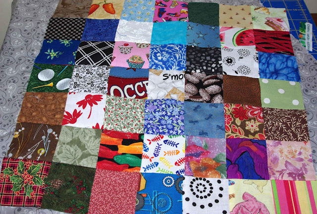 Sane, Crazy, Crumby Quilting: I m Not a Fabric Snob - All Fabrics Mix It Up in Scrap Vomit
