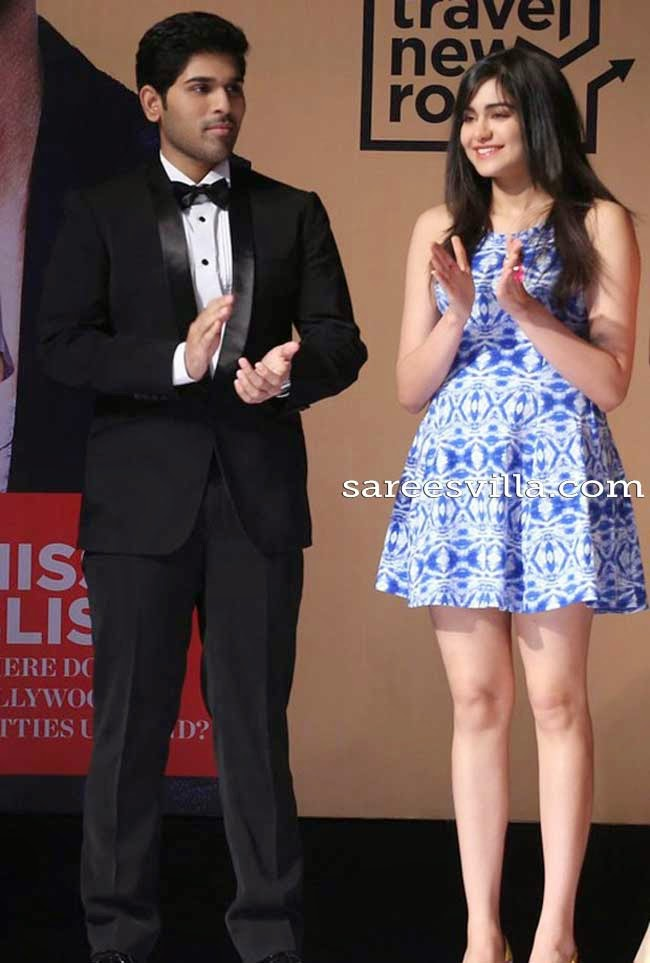 Allu Sirish and Adah Sharma at Travel New Roads Book Launch