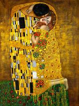 """""""Le baiser"""", peinture symbolique par Gustav Klimt"""