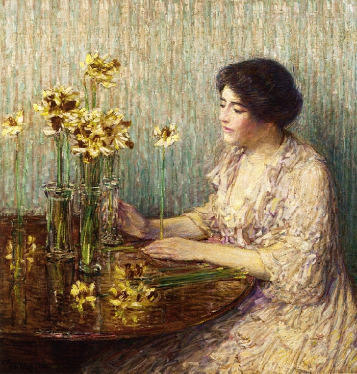 Childe Hassam 1859-1935 | American painter | The Impressionist Gardens