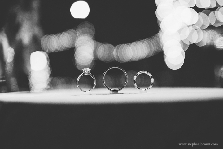 """profile shot of diamond wedding rings"""