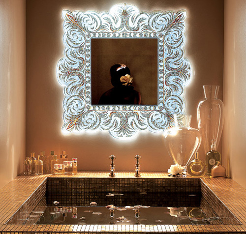 Mirrored Wall In Contemporary Room