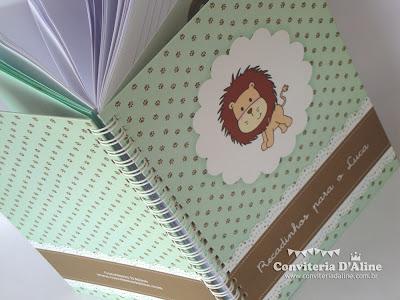 caderno personalizado tema safari