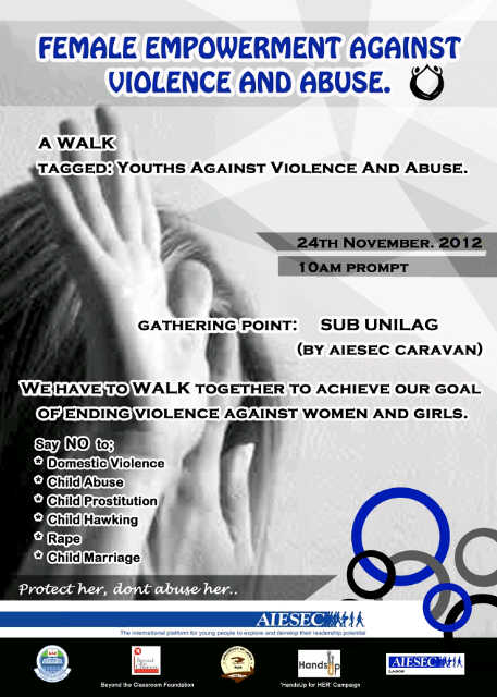 PRESS RELEASE: Youths Walk against Violence and Abuse on Women