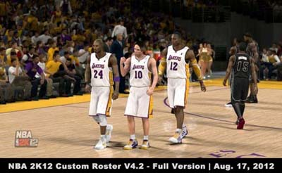 NBA 2K12 Custom Roster V4.2 - Full Version