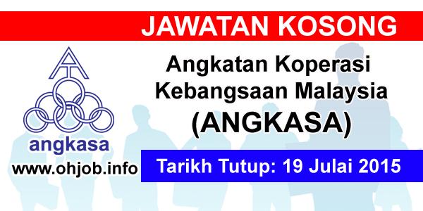 Jawatan Kerja Kosong Angkatan Koperasi Kebangsaan Malaysia Berhad (ANGKASA) logo www.ohjob.info julai 2015