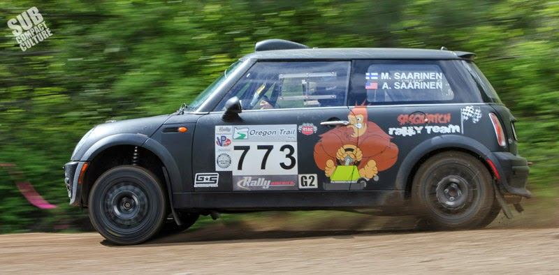 MINI Cooper rally car racer