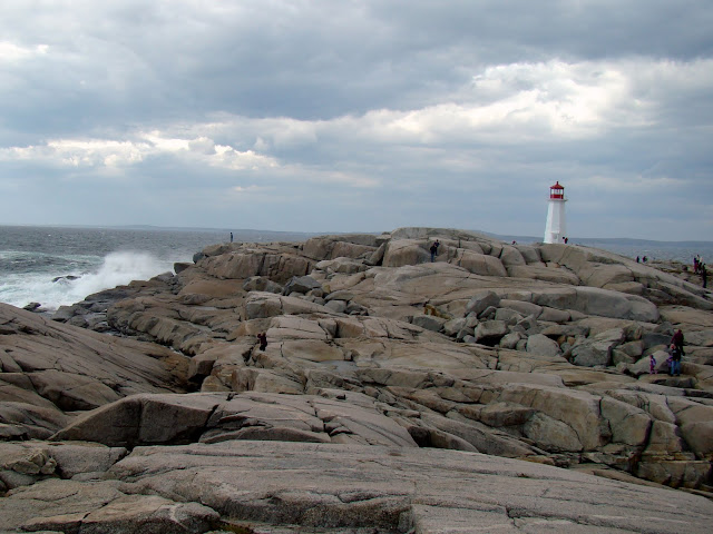 peggy's cove nova scotia halifax lighthouse rocks and surf