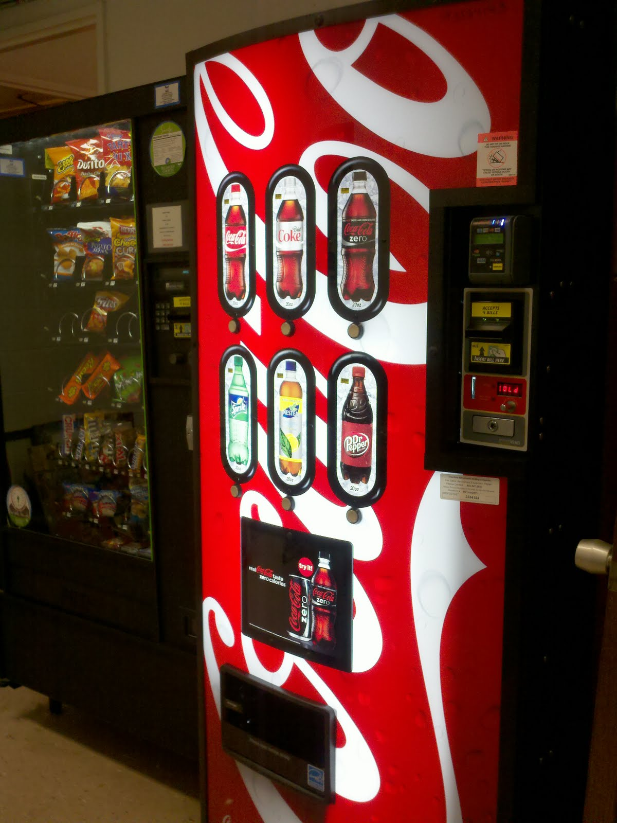 New Soda Vending Machine in Library - Horrmann Library