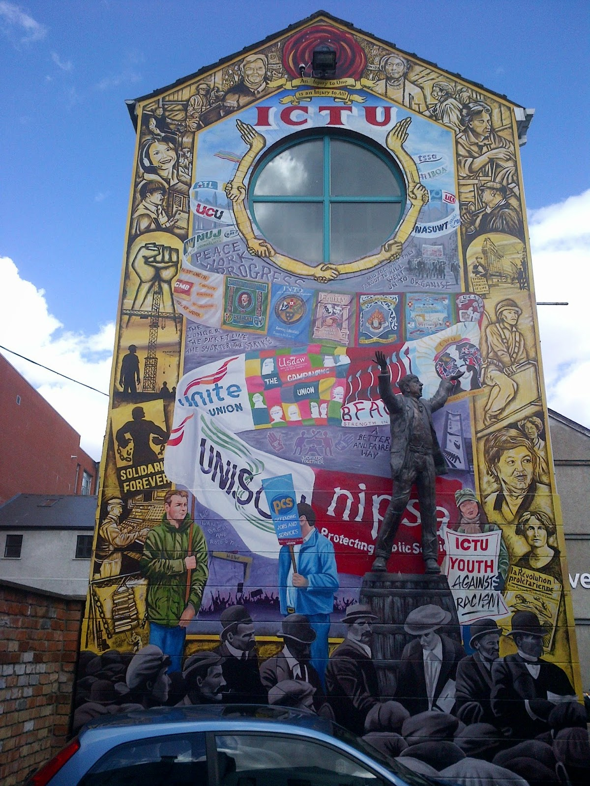 Fighting talk by mark metcalf belfast anti fascist and for Mural belfast