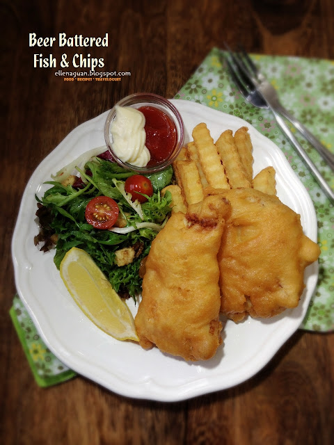 Cuisine paradise singapore food blog recipes reviews for Beer battered fish and chips