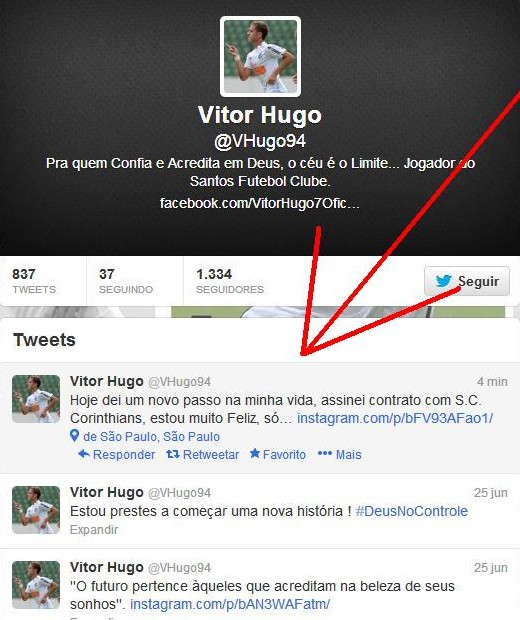 Vitor Hugo base do Santos FC