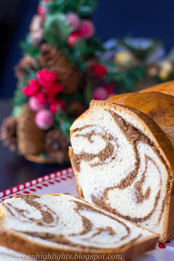 Pecan Swirl Bread Loaf - Taste of Christmas  Kitchen Highlights