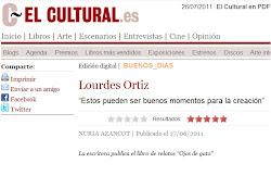 ENTREVISTA EN EL CULTURAL, EL MUNDO