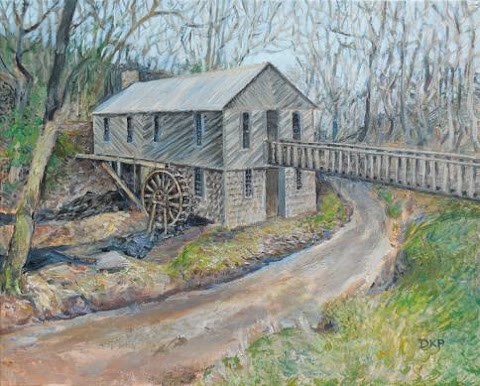 Painting of Cohutta Springs Mill by D.K. Pritchett