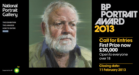 BP Portrait Award 2013 call for entries