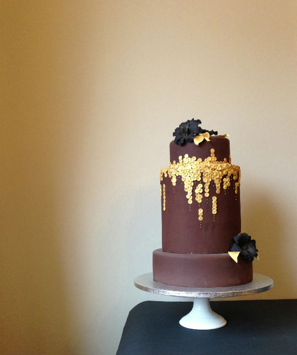 CHOCOLATE CAKE WITH A GOLDEN TWIST