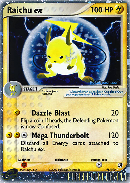 Electric Type Pokemon Cards ex Electric Type Pokemon Card