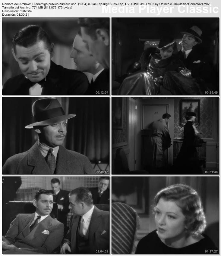 Secuencias de la película: El enemigo público número 1 | 1934 | Manhattan Melodrama