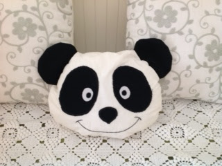 panda pillow, pillow pattern, almofada do panda