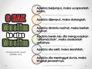 6 Hak Muslim Ke Atas Muslim