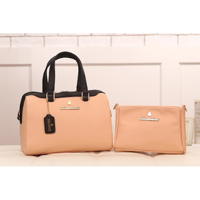 AAA WITH JESSICA MINKOFF LOGO (PEACH)