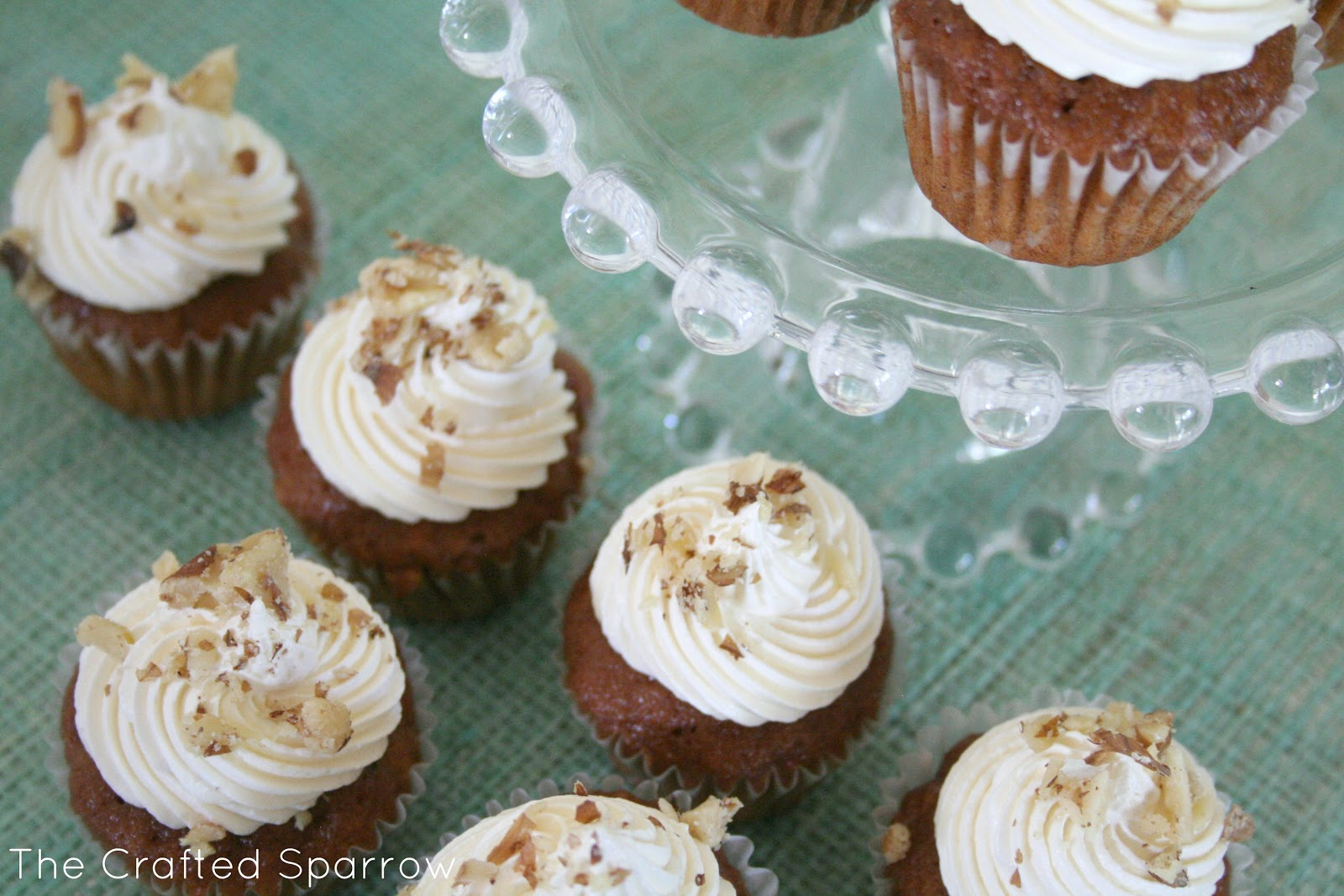 Carrot Cake Mini Cupcakes The Crafted Sparrow