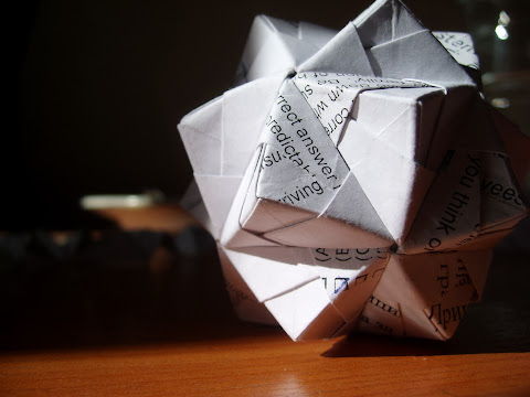 Modular origami: Sonobe variation