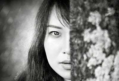 Hidden Vision - Photo by Ben Heine with Chinese model Zhuzhu