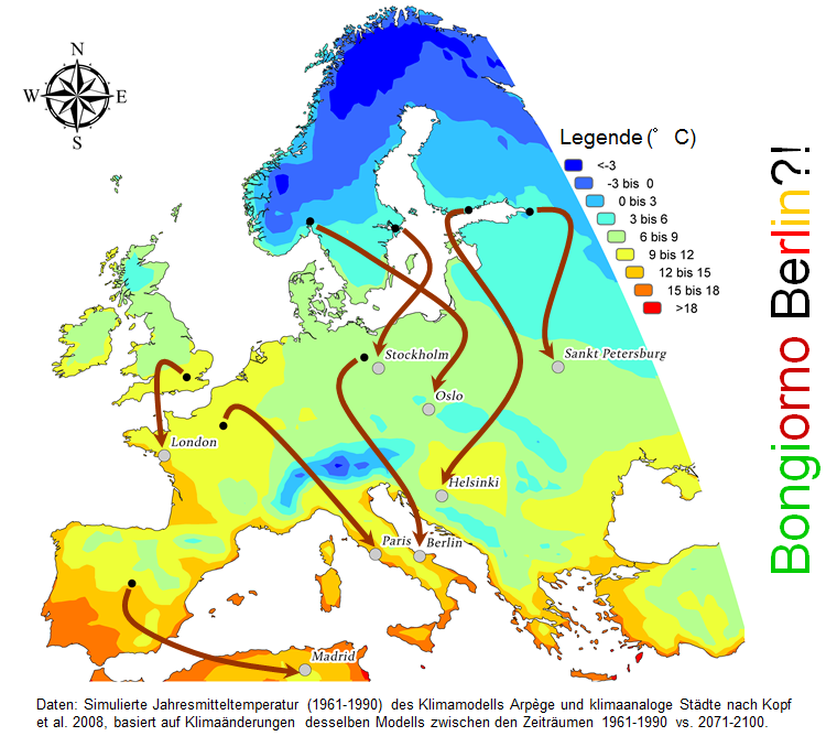 alterações do clima na Europa