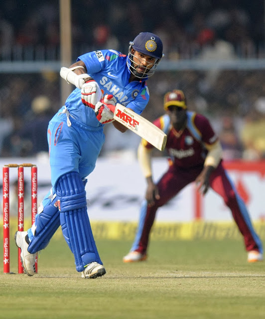 India vs West Indies,Shikhar Dhawan slams ton vs westindies,India win series 2-1 vs West Indies,batsman to score 5 ODI tons in 2013,India win series 2-1,Shikhar Dhawan 2013 stats,Shikhar Dhawan vs westindies