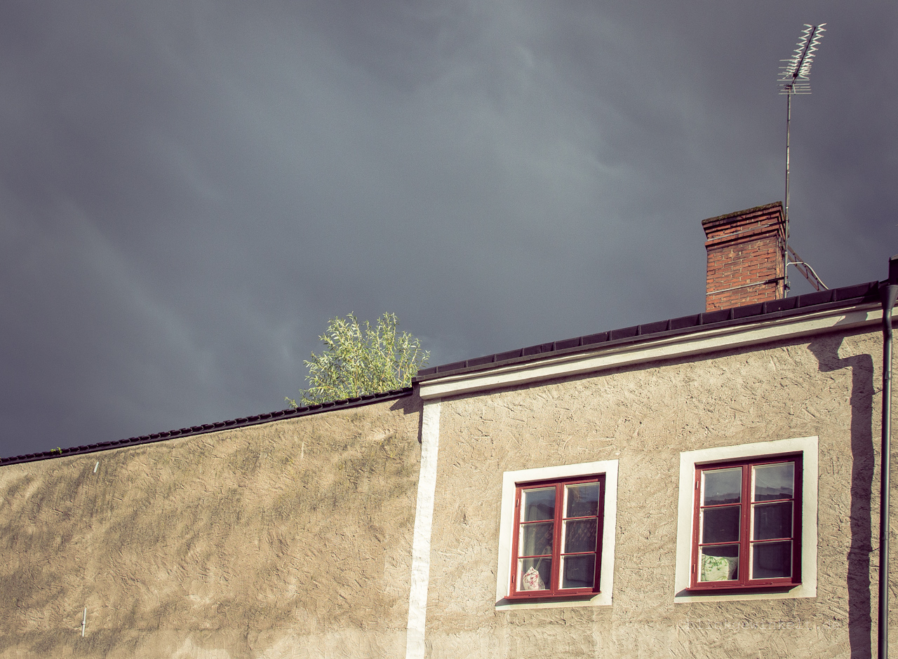 Växjö in Schweden; Gewitterwolke