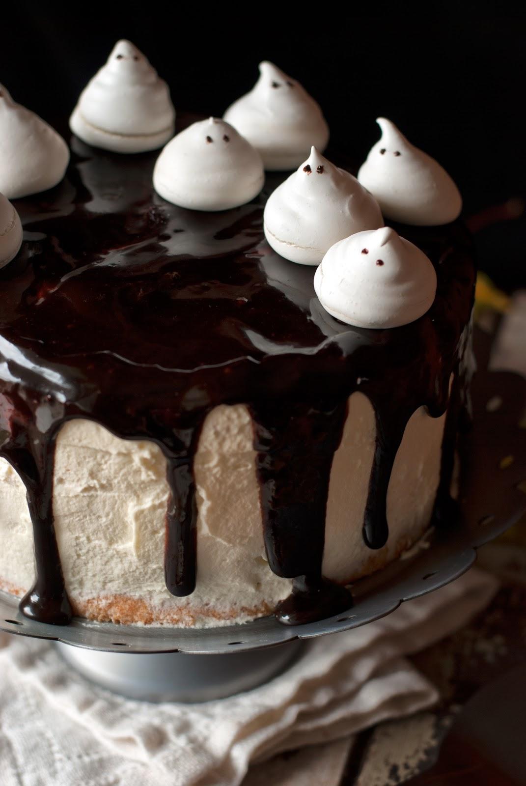 Bezglutenowy tort czekoladowy angel food cake