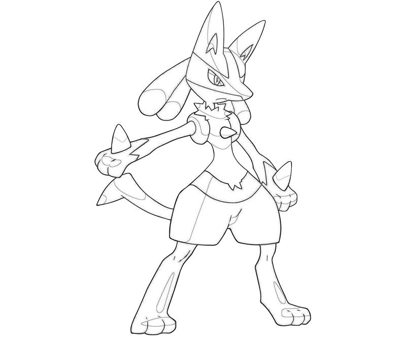 Mega evelotion lucario free colouring pages for Pokemon coloring pages lucario