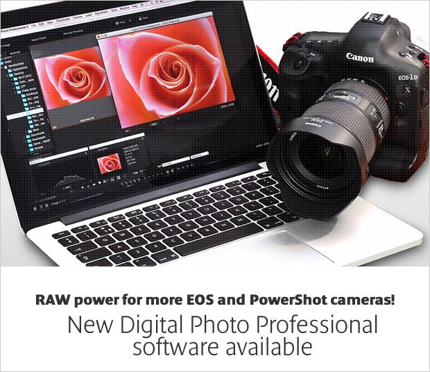 Canon Digital Photo Professional   (DPP) available ...
