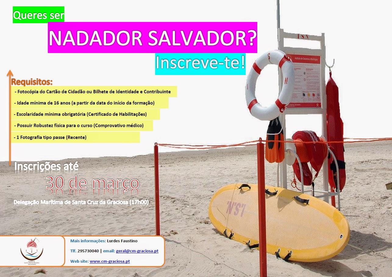 Abertas Inscrições para o Curso de Nadador-Salvador