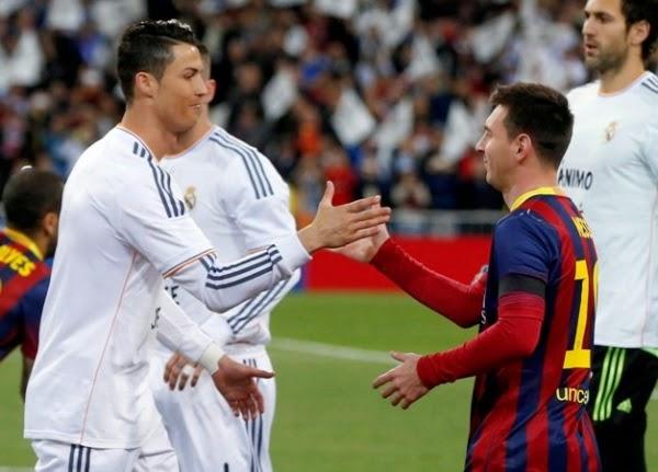 Cristiano Ronaldo on Messi