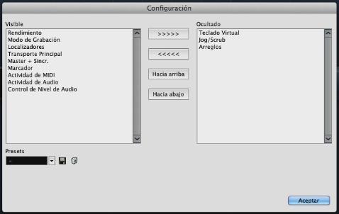 cubase tutorial, configuracion de la barra de transporte de cubase
