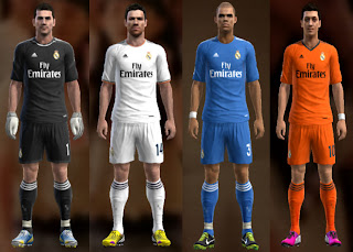 Real Madrid Kits 2013-2014 Fly Emirates PES 2013
