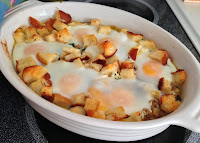 Cheesy Sausage and Spinach Egg Bake from Top Ate on Your Plate