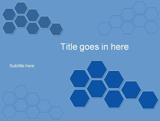 Hexagon, template powerpoint
