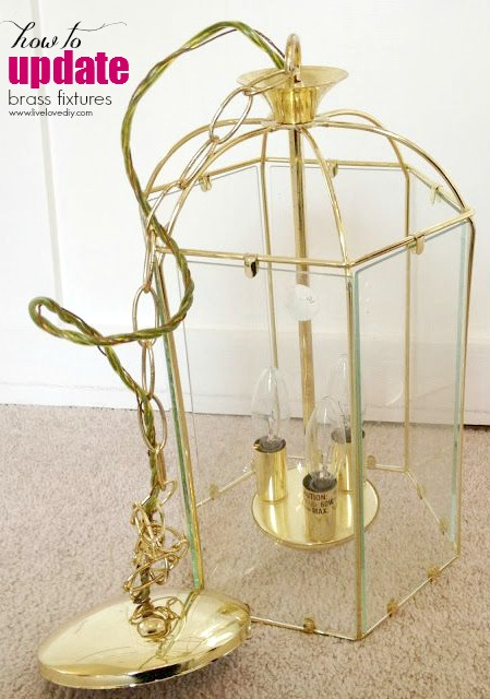 10 spray paint tips what you never knew about spray paint i did the same thing to the chandelier in my office i found an old brass chandelier on ebay and spray painted it white i also added strings of crystal aloadofball Image collections