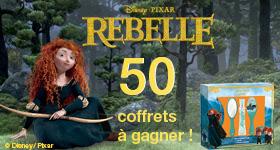 50 coffrets de parfum Disney/Pixar Rebelle à gagner