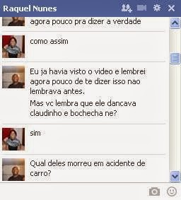 Conversa no Facebook com Raquel