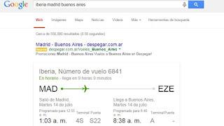 trucos google hora vuelo