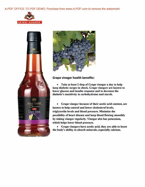 Benefit of Grape Vinegar