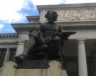 Museo del Prado, estatua de Velázquez